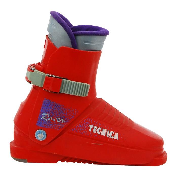 Junior ski boot Tecnica Racer dark orange