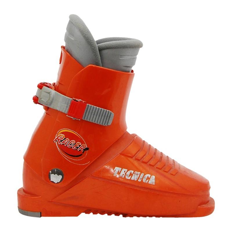 Chaussure de ski occasion junior Tecnica Racer orange foncé Qualité A