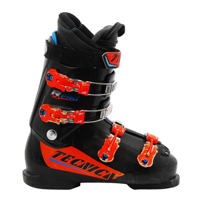 Junior usado Tecnica R PRO 60/70 bota de esquí negro naranja