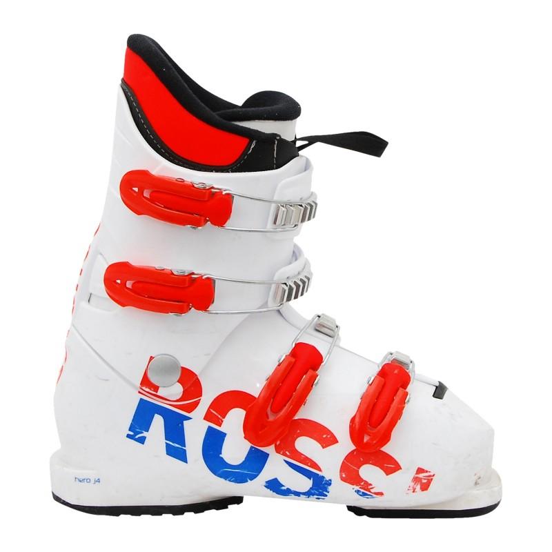 Chaussure de ski occasion junior Rossignol Hero J3/J4 orange bleu qualité A