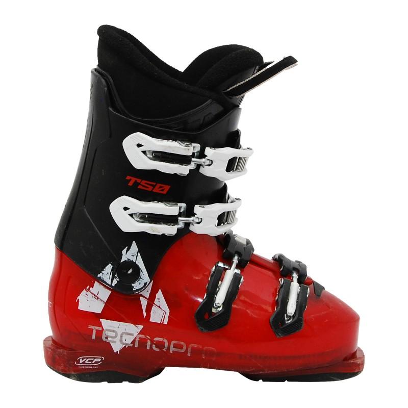 Chaussure de ski occasion junior Tecno pro T50 noir rouge qualité A