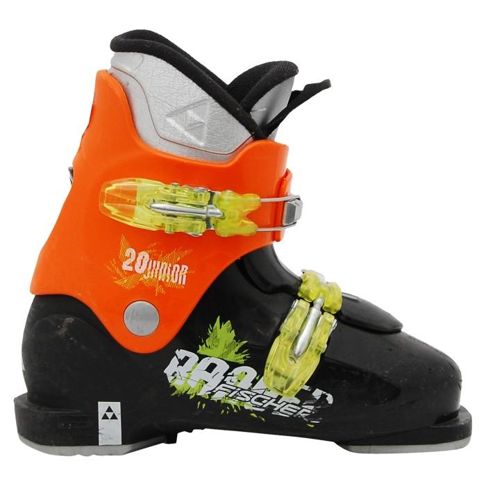 Junior gebraucht Skischuh Fischer Ranger schwarz orange