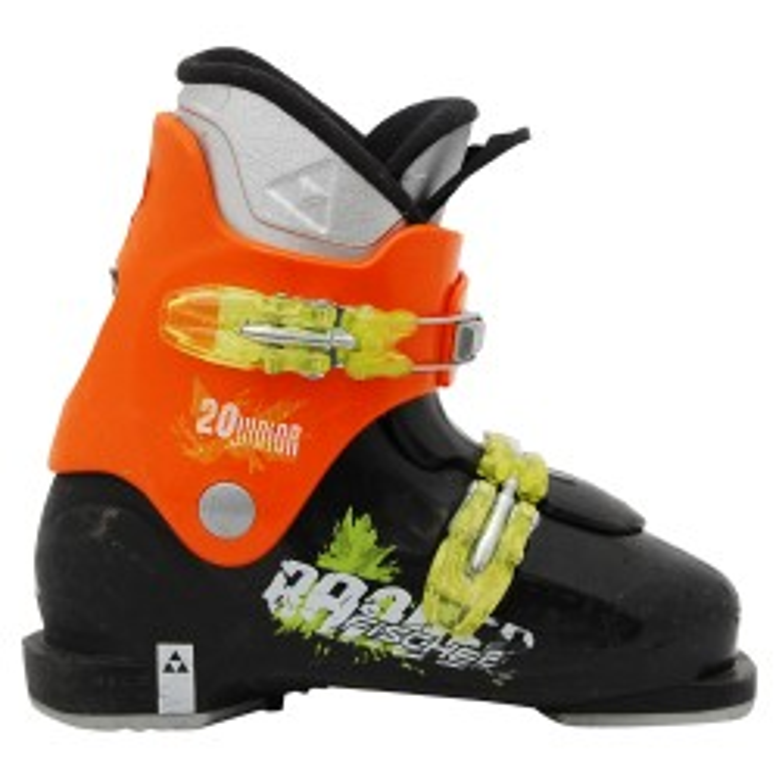 Junior usó bota de esquí Fischer Ranger naranja negro
