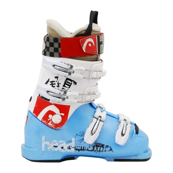 Chaussure de ski occasion junior Head bleu blanc rouge