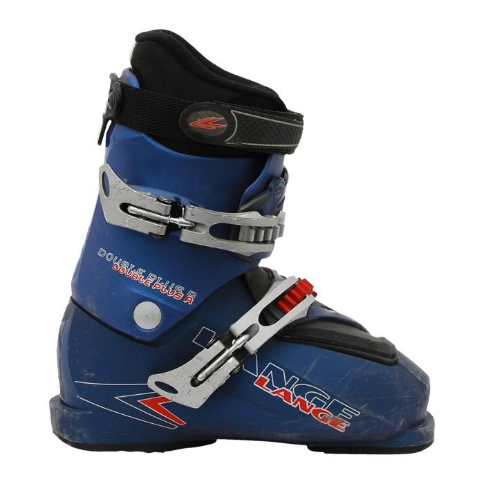 Lange Double Plus R Blauer Anlass-Ski-Schuh