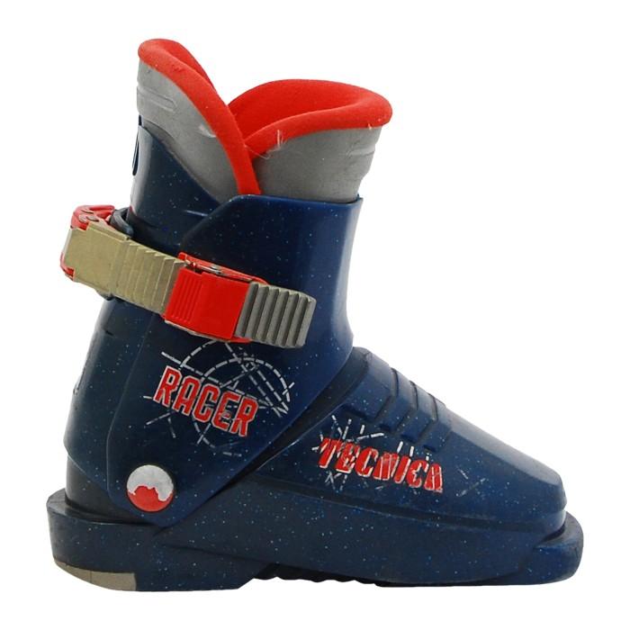 Junior used ski boot Tecnica Racer blue night