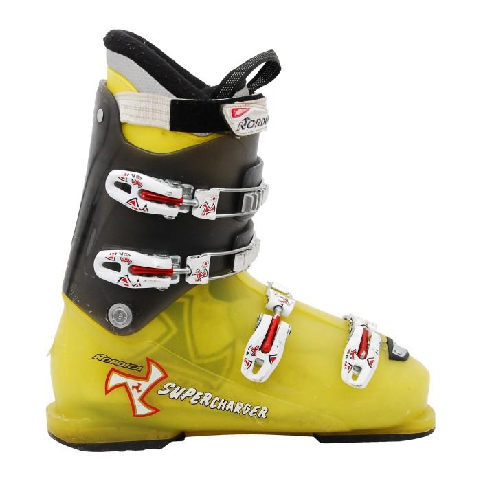 Ski Boot Junior Nordica Supercharger Grey Yellow