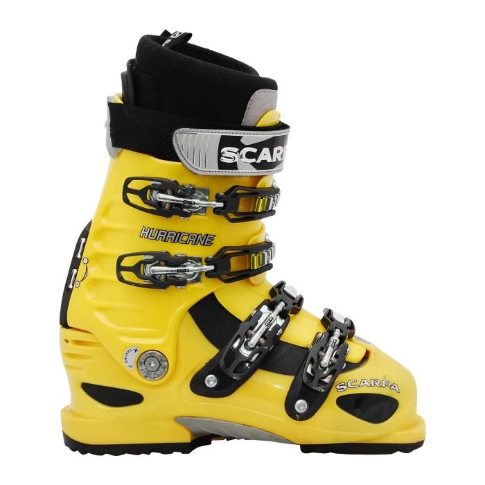 Chaussure de ski de randonnée occasion Scarpa Hurricane jaune