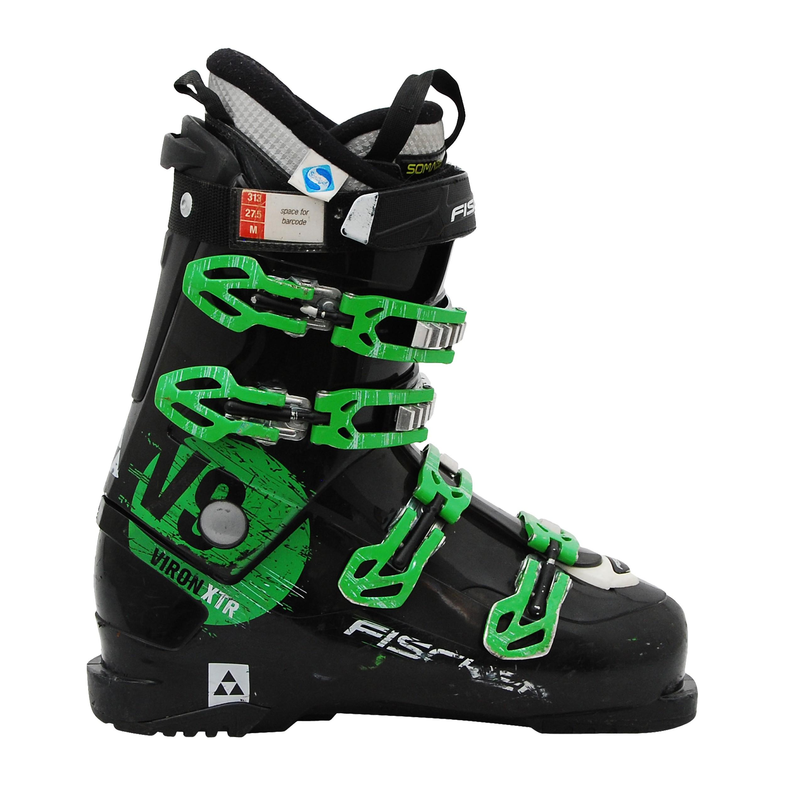 Chaussure de Ski occasion Fischer Viron V9 XTR noir et vert