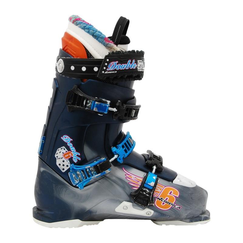 Chaussures de ski occasion Nordica double six bleu