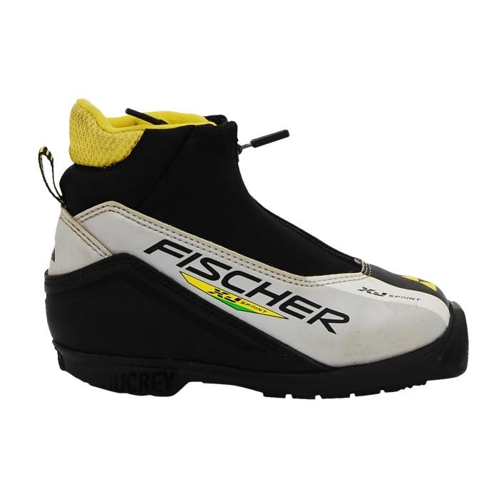Gebrauchter Langlaufschuh Fischer XJ sprint schwarz grau