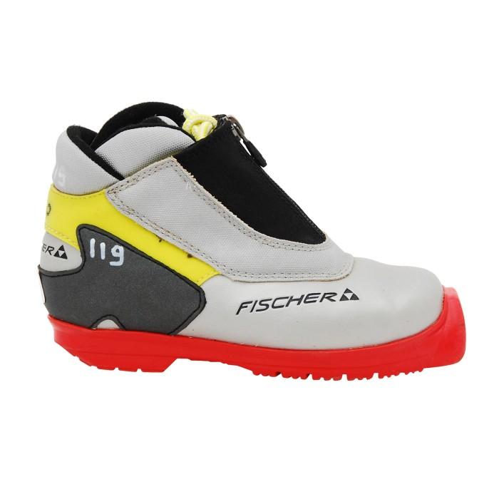Gebrauchter Hintergrundschuh Fischer Jr Sport grau rot gelb