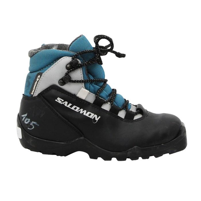 Chaussure ski fond occasion Salomon women noir bleu