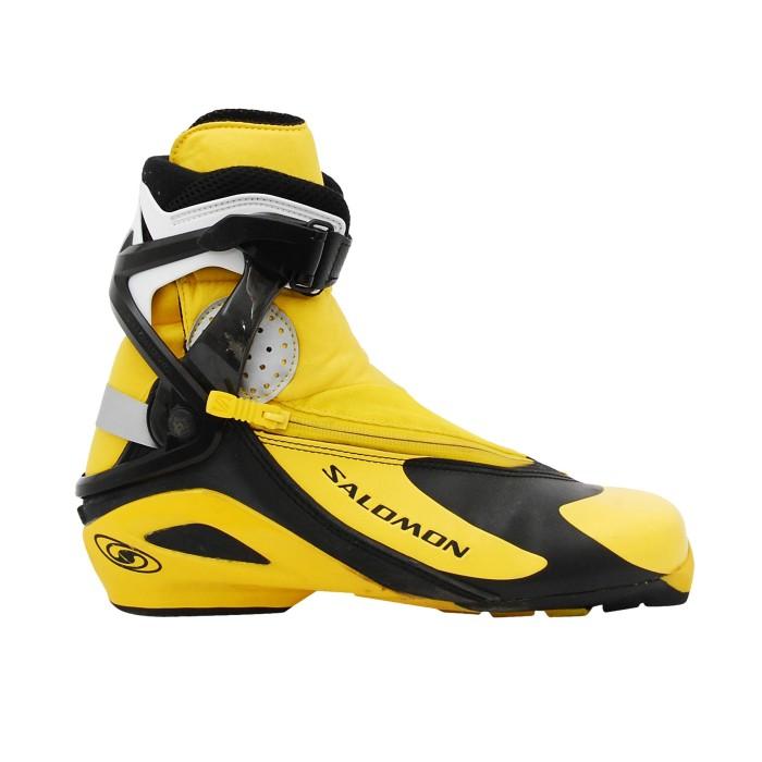 Chaussure ski fond occasion Salomon RS jaune/noir