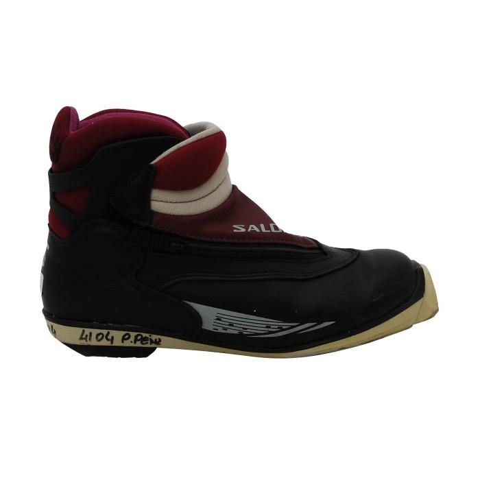 Chaussure ski fond occasion Salomon 7.1 noir bordeaux