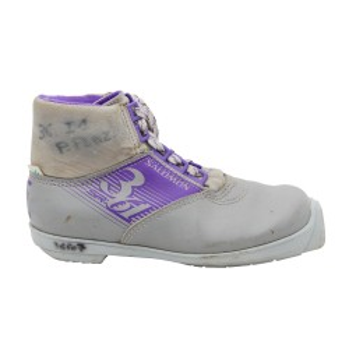 Chaussure ski fond occasion Salomon 361 sr gris violet