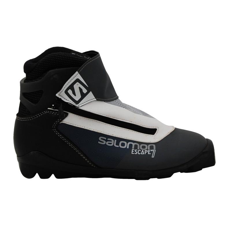 Chaussure ski fond occasion Salomon Escape 7 bleu qualité A