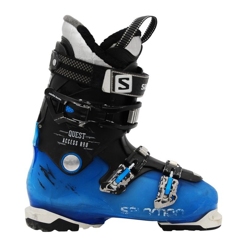 Chaussures de ski occasion Salomon Quest access R80 bleu qualité A