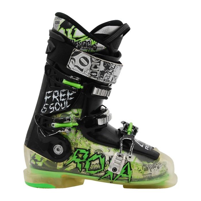 Chaussure de ski occasion Roxa Freesoul 6 noir vert
