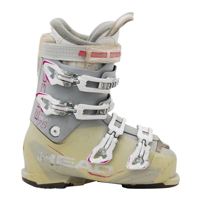Cabeza siguiente borde 75W rosa gris usado bota de esquí