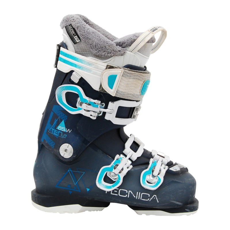 Gebrauchte Skischuhe Tecnica ten 2 85 rt weiß / grau / blau