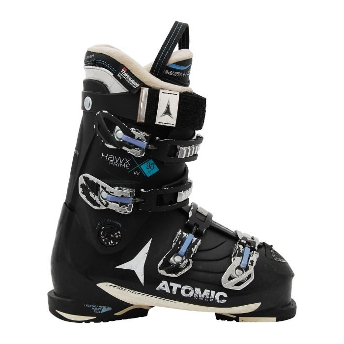 Gebrauchte Skischuhe Atomic hawx Prime w 90x schwarz blau