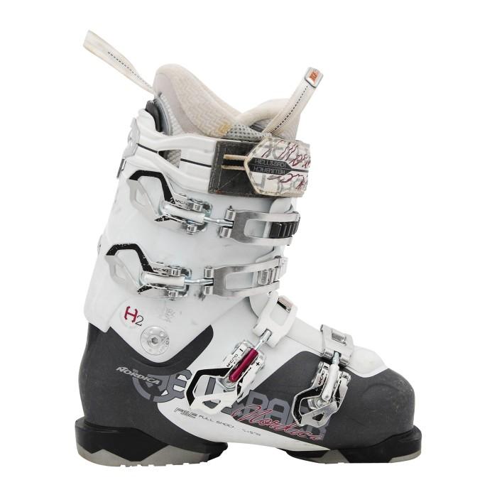 Nordica Hell y back h2w botas de esquí de segunda mano en blanco y negro