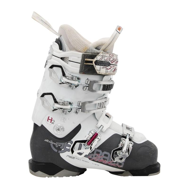 Chaussures de ski occasion Nordica Hell and back h2w noir et blanc qualité A