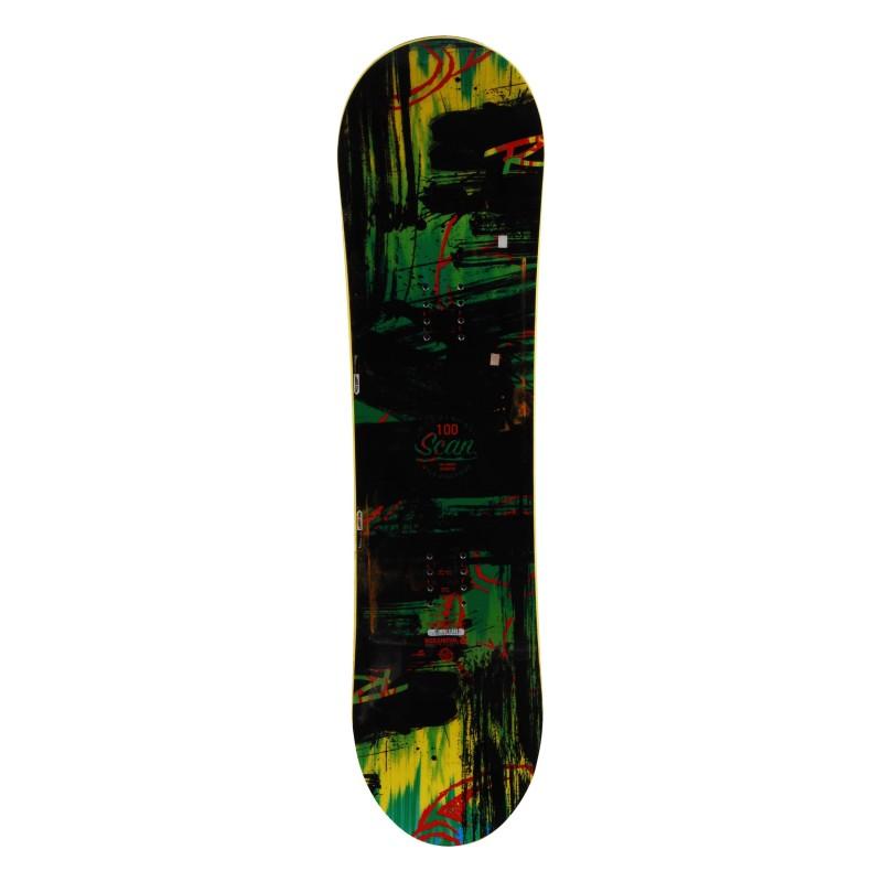 Rossignol Scanner Black Junior Snowboard + Rumpfbefestigung