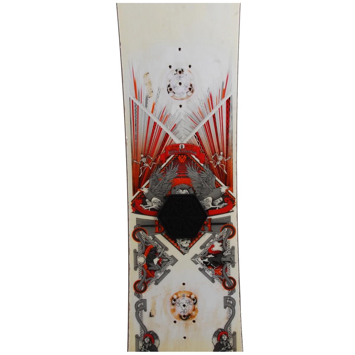 Snowboard-occasion-Burton-White-collection-fixation miniature 4