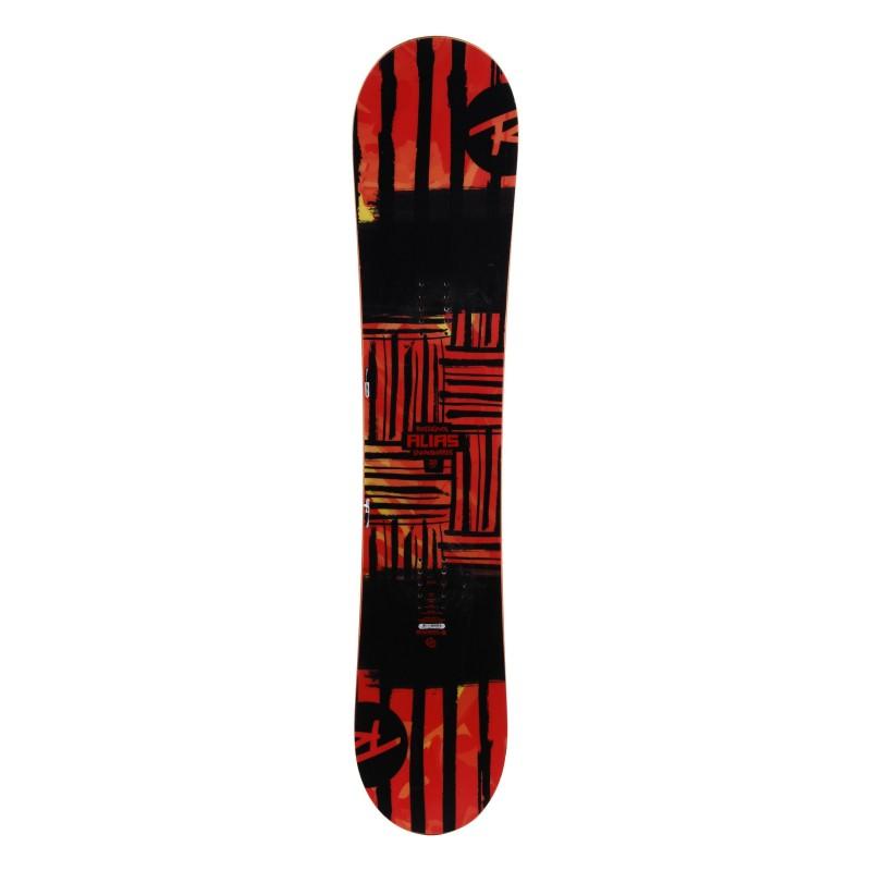 Rossignol junior snowboard Scan negro rojo + montaje en el casco