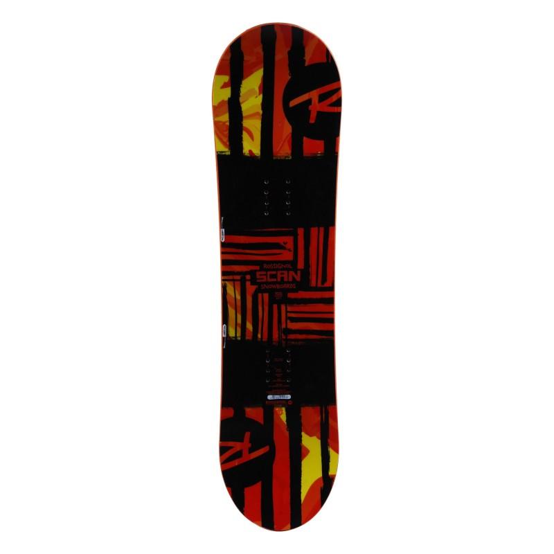 Used Rossignol junior snowboard Scan black red + hull mount