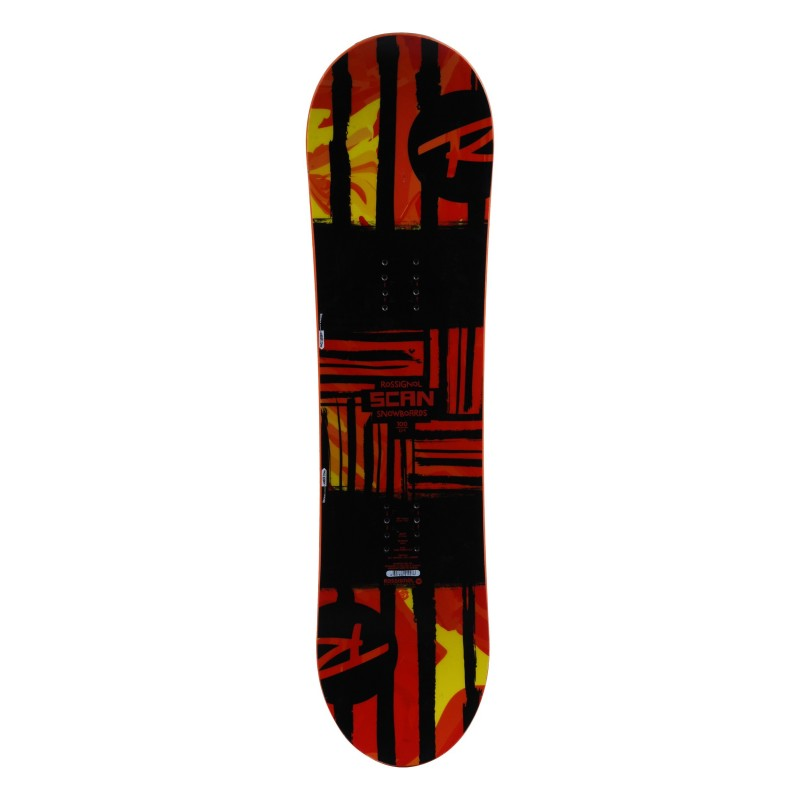 Snowboard occasion junior Rossignol Scan rouge Qualité A + fixation