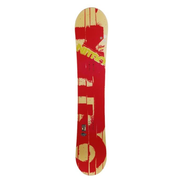 Snowboard occasion Nitro prime district + fixation coque