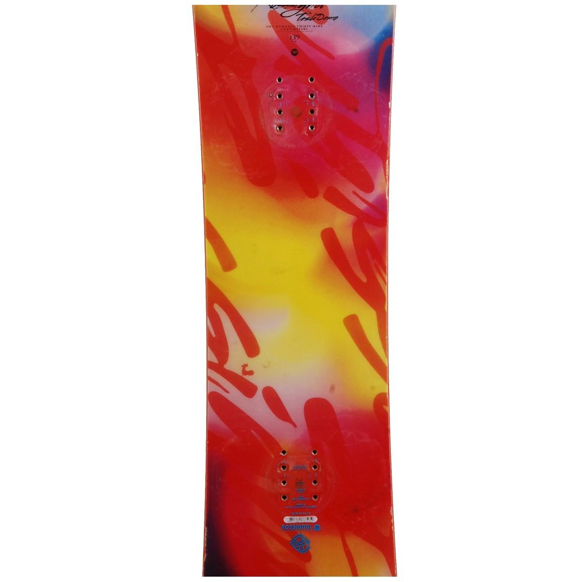 Snowboard-occasion-Rossignol-tesla-demo-fixation-coque miniature 4