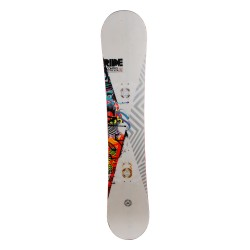 Snowboard occasion Ride Control blanc 1er choix + fixation