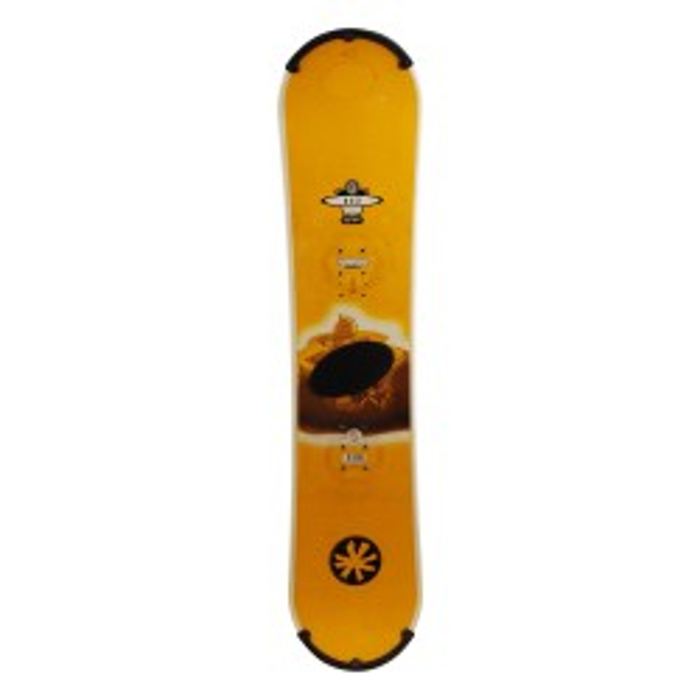 Snowboard occasion junior O'sin Shavers jaune 1er choix  + fixation