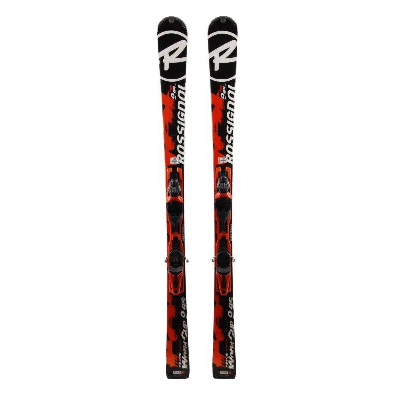 Ski verwendet Rossignol 9 GS WC Ti schwarz orange + Bindungen