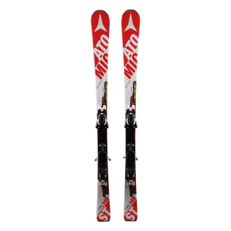 Gebrauchte Atomic Redster ST rote und weiße Ski + Bindungen