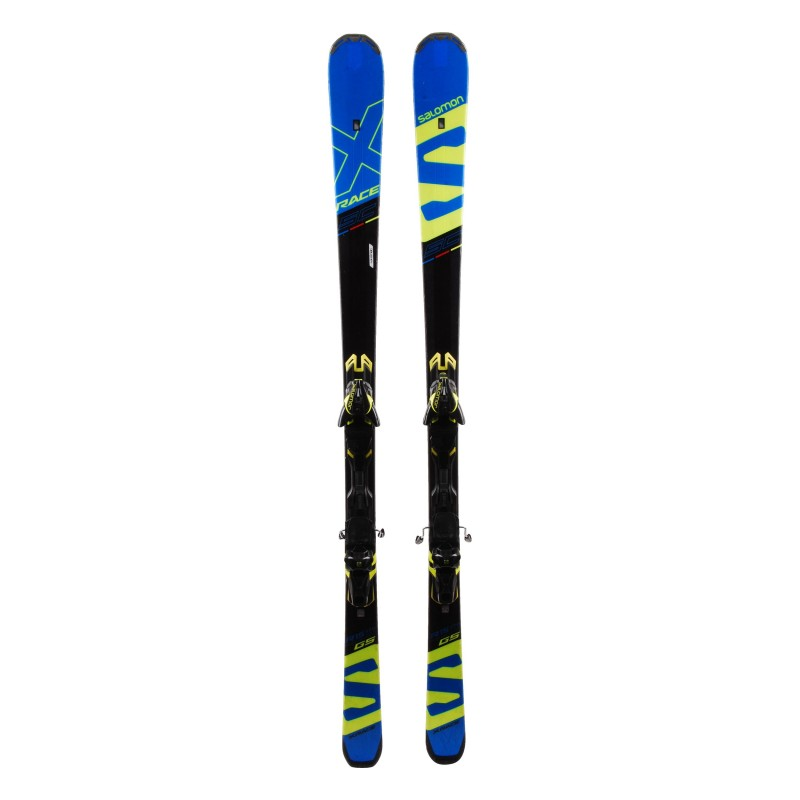 Ski Salomon X race SC GS occasion Qualité A + fixations