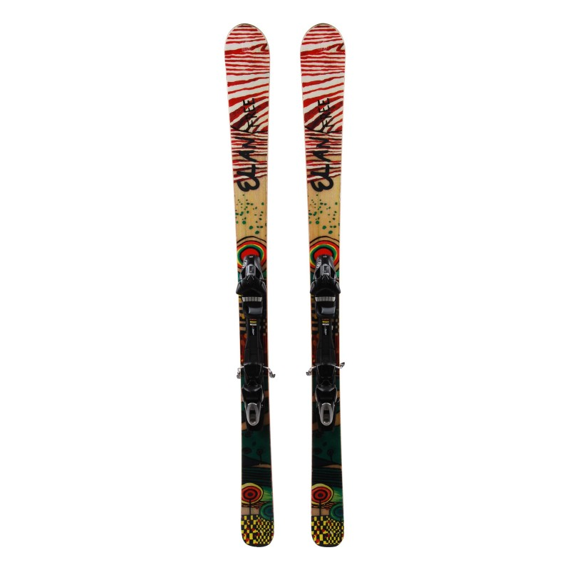 Elan Freeline Mini-Ski weiß / rot + Bindungen