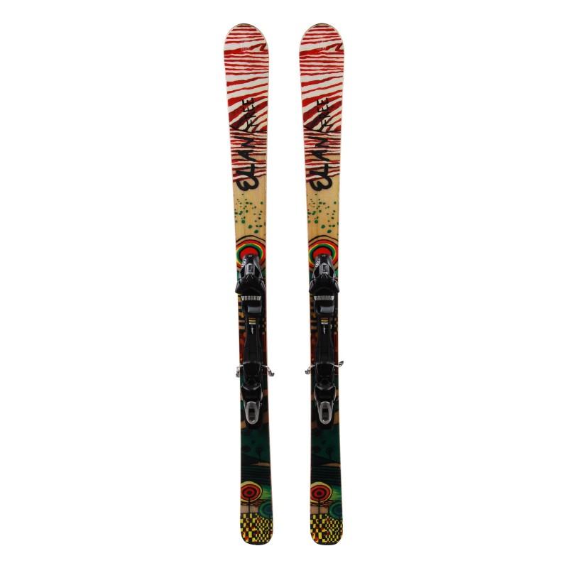 Elan Freeline mini ski white / red + bindings