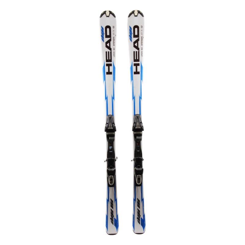 Ski Gelegenheit Head Shape One blau / weiß + Bindungen