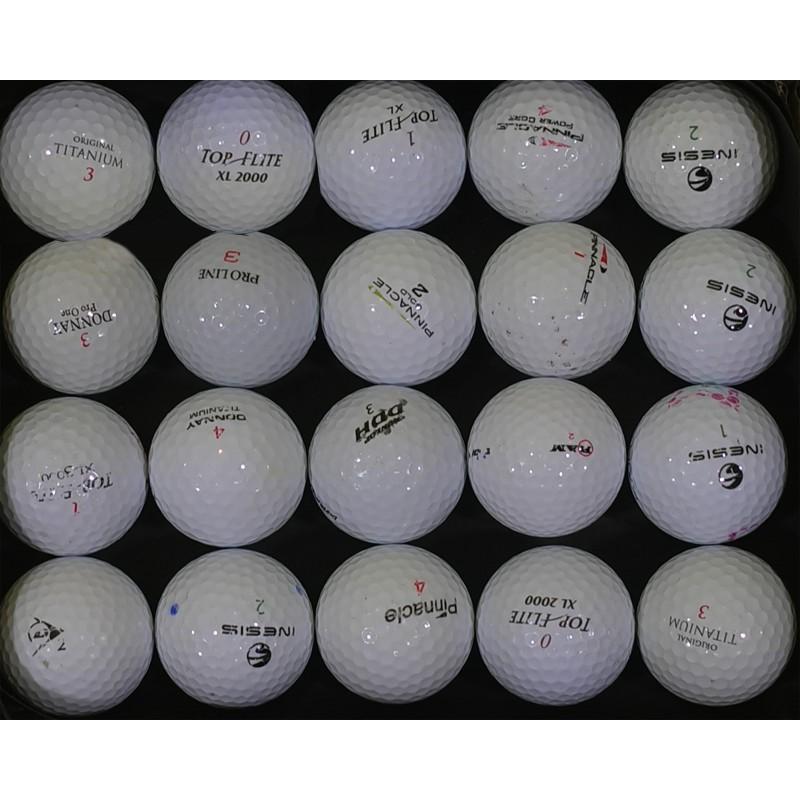 lot de 20 balles de golf occasion 1er prix. Black Bedroom Furniture Sets. Home Design Ideas