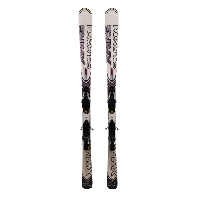 Ski Salomon X Wing 6 blanc occasion Qualité A + fixations