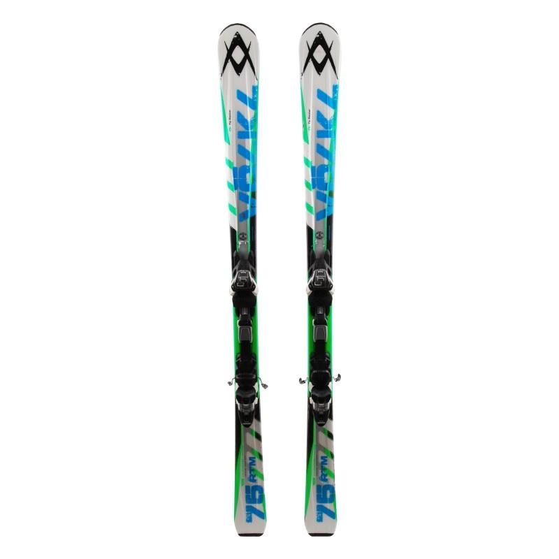 Gebrauchter Ski Völkl RTM 75 weiß + Bindung