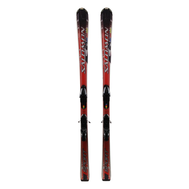 Salomon 24 Sport rot Ski + Bindungen