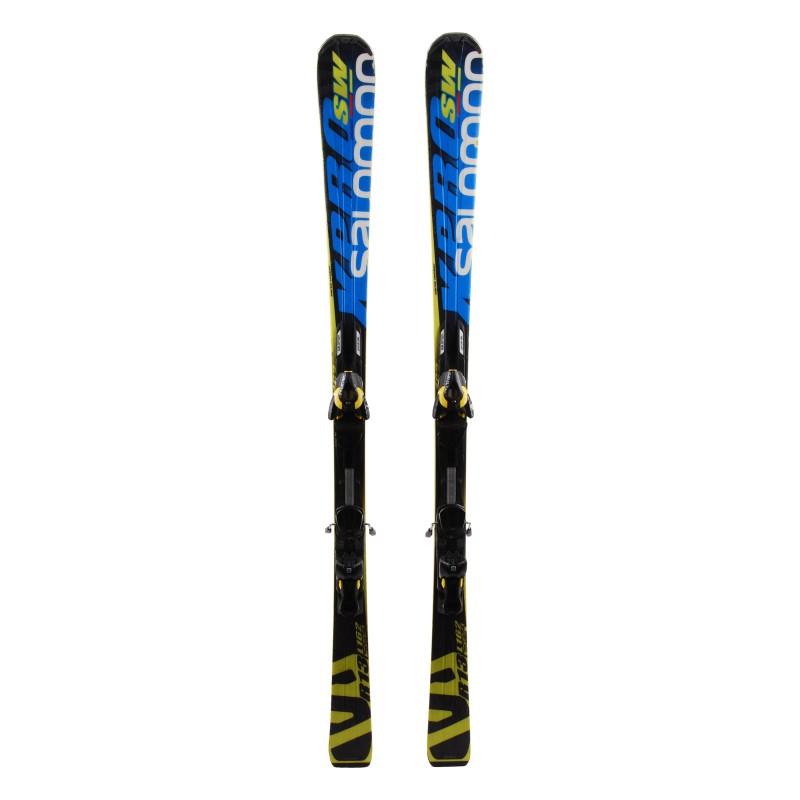 Détails sur Ski occasion junior Salomon X race SW + fixations