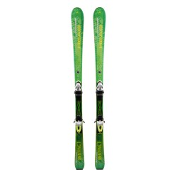 Skiing Head Pure instinct green + bindings