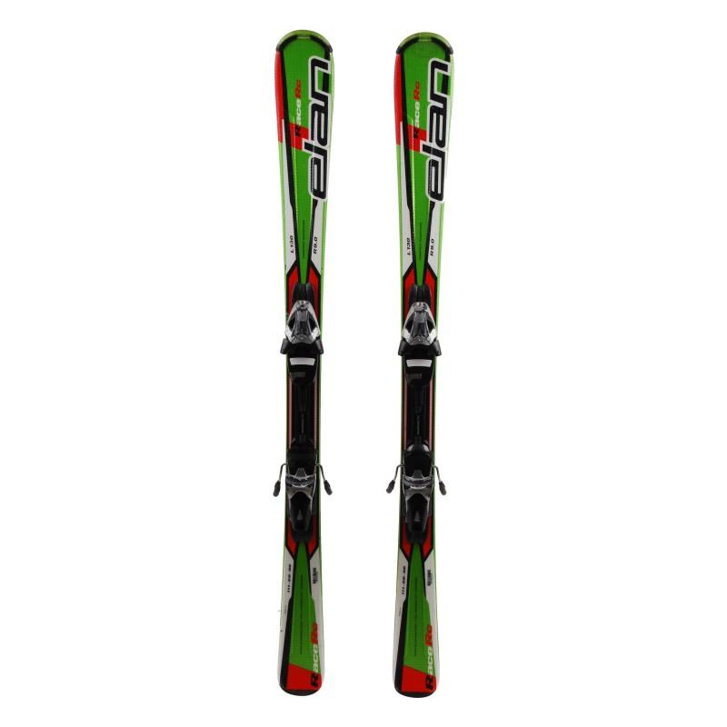 Gebrauchte Junior ELAN RACE RC grüne Ski + Bindungen